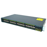 Cisco Catalyst 2960 WS-C2960-48TC-L 10/100 Ethernet 48 Port Switch TESTED &WIPED