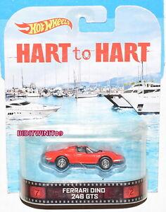 HOT WHEELS RETRO ENTERTAINMENT HART TO HART FERRARI DINO 246 GTS RED