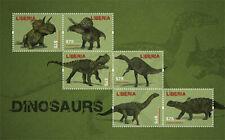 Liberia - 2012 - DINOSAURS - Sheet of 6 Stamps - MNH