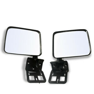 Pair LH+RH Manual Door Mirror Fits Mitsubishi Triton Ute ME MF MG MH MJ 89~96