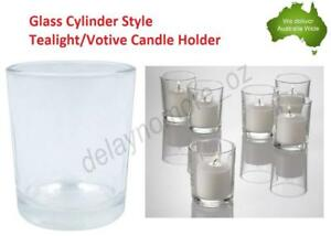 Clear Glass Cylinder Tealight Votive Candle Holder Wedding Holders Party Even