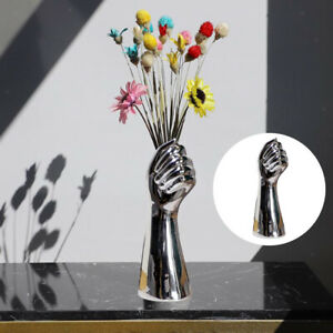 Creative Hand Shape Ceramic Vase Artificial Flowers Pot Party Ornaments Home