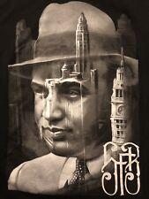 Al Capone Art Picture Mafia Chicago Mens T Shirt Size Medium New Black