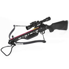 150 lb Black Hunting Crossbow Bow + 4x20 Scope + 7 Arrows / Bolts 180 175 80 50