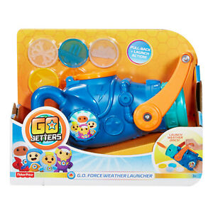 Fisher Price Go Jetters GO Force Weather Launcher Disc Fight Fun For Kids