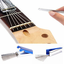 1Set Silver Guitar Repair Tools Kit Pullers Leveler Dressing File Luthier Supply