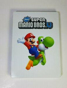 New Super Mario Bros. U (Wii U, 2012) - With Steel Case