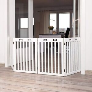 4-Parts Safety Gate Barrier Pet Dog Cat Door Stair Fence Pens, 75x60x160cm White