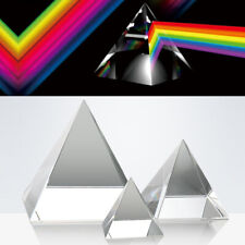 Optisches Glasprisma Optik Kristall Pyramide Physik Lehre Licht Spektrum 40-100