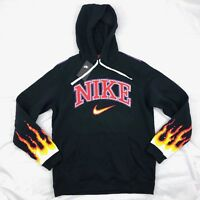 Nike Chase Reed New York City Flame Hoodie Black Red White AO1000-010 Men's M-L