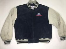 Spike Sports Ford Racing Suede Leather Heavy Letterman's Jacket Men's 2XL