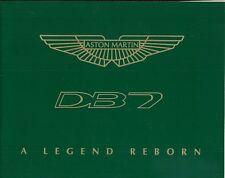 Aston Martin DB7 A Legend Reborn UK market 1996 sales brochure