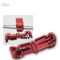 10 Abzweigverbinder für Kabelschuhe ROT 0,5-1,5mm² Stromdieb Klemmverbinder NEU