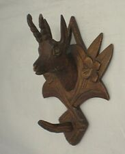 Black Forest Carving ibex Coat / Hat Hook