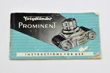 Voigtlander Prominent Instruction Manual