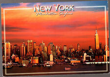 Vintage Postcard, USA, New York, Manhattan Skyline , stamped 2000