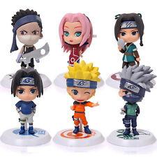 Set 6 Pcs Uzumaki Anime Figure Naruto Sakura Doll Shippuden Haruno Sasuke Naruto