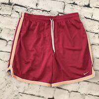 Nike Womens Sz S Vtg Athletic Gym Shorts Dark Pink