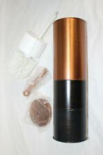 Nu-steel Horizon 3 Tone Copper Round Stainless Steel Toilet Brush w Holder