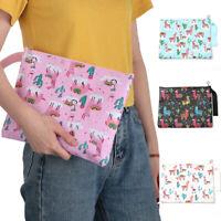 Multifunctional Llama Women Pouch  Alpaca Cosmetic Bag  Pencil Case Make Up
