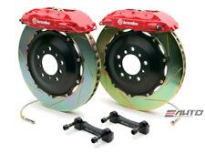 Brembo Front GT Big Brake 4Pot Caliper Red 332x32 Slot Rotor Supra JZA80 93-98