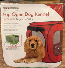 Sport Pet DOG KENNEL pop open Medium