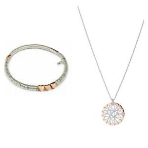 New Links of London Silver & Rose Gold Necklace & Bracelet Valentines Gift Set