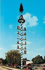 Frankenmuth MI~Maypole~Maibaum~Bavarian Village~1980 Postcard
