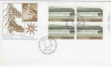 Canada Post OFDC 1979 $1.00 National Parks: Bay of Fundy UR Plate Bl FDC Sc #726