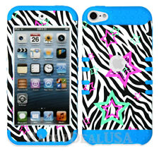 For Apple iPod Touch iTouch 5 | 6 - KoolKase Hybrid Cover Case - Zebra Star 73