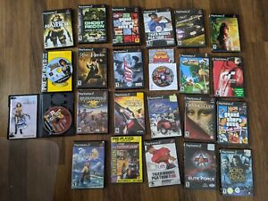 PS2 Game Lot - 23 Games in Total - Condition is Mixed