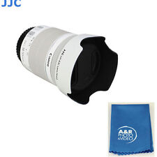JJC LH-63C Lens Hood  White for Canon EF-S 18-55mm f/3.5-5.6 IS STM EW-63C 18-55