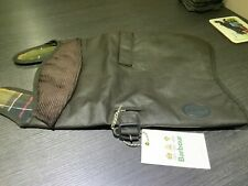 BARBOUR WAX COTTON DOG COAT OLIVE JACKET WATERPROOF SIZE S & l TARTAN LINED