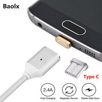 CABLE USB CHARGEUR MAGNETIQUE USB TYPE C Magnetic Synchro HUAWEI SAMSUNG SONY..