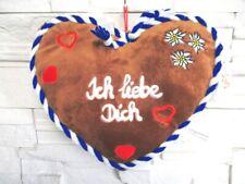 Plüsch Kissen Herzform Ich liebe ich blau 32 cm ! ! Pillow Bayern Neu