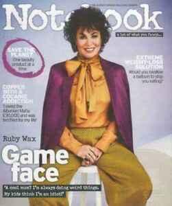 Notebook Magazine: Ruby Wax, Katherine Ryan,  Michelle Keegan 18/08/19
