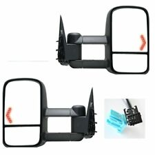 Towing For 2003-2007 Silverado Truck Mirrors Power Heated LED Turn Signals Pair