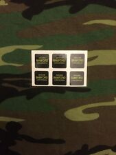 x6 Gold Bamford Optonic bite alarm stickers/Decals