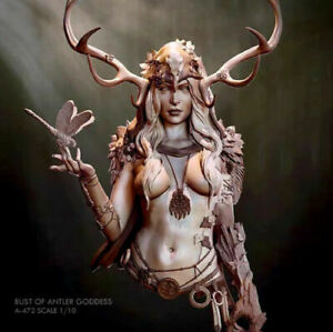1/10 Resin Bust Figure of Antler Goddess Female Woman Unassembled Unpainted kit