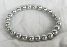 Silver Grey Japanese Cultured Pearl Bracelet - Fabulous Classy Classic Jewellery