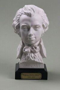 W. A. MOZART, busto in porcellana di Biscuit.