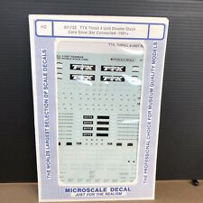 HO MICROSCALE DECAL 87-732 TTX THRAIL 4 UNIT DOUBLE STACK CARS DRAW BAR