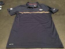 Nike Men's Denver Broncos Team Polo Jersey Shirt Large Nfl Football Dri-Fit