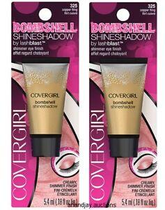 Lot 2 New Covergirl Bombshell Shine Shadow Shimmer Eye Finish Copper Fling 325