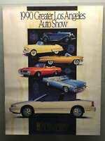 "Vintage 1990 Los Angeles Auto Show Oldsmobile Poster 18""x 24"""