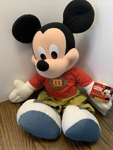 "2000 Toys R Us Fisher Price 24"" Jumbo Plush Mickey Mouse with Tags"