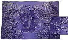 "Sarong/Pareo/Wrap - ""PURPLE LEAVES"" - handpainted batik from Bali - Hary Dary"