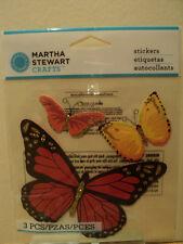 Martha Stewart Color Rojo Y Naranja Mariposas Pegatinas BNIP * Para ver *
