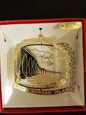 Confederation Bridge  Prince Edward Island  Gold Flashed Brass Ornament