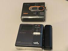 Sony Mz-Rh910 Hi-Md Walkman + Mz-Dn430 Minidisc Digital Music Player Bundle